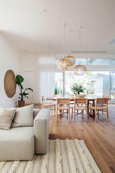 Modern scandinavian interior design ideas that you should know 11 Modern Scandinavian Interior, Scandinavian Style, Apartment Decoration, Lounge Decor, Dining Room Lighting, Ceiling Lighting, Dining Room Design, Kitchen Design, Kitchen Decor