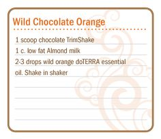 Love orange and chocolate? Put them together in this yummy recipe from Doterra. Using chocolate Trimshake, almond milk and wild orange essential oil. Cooking With Essential Oils, Doterra Essential Oils, Essential Oil Blends, Doterra Slim And Sassy, Doterra Oils, Doterra Products, Protein Shake Recipes, Protein Shakes, Wild Orange Essential Oil
