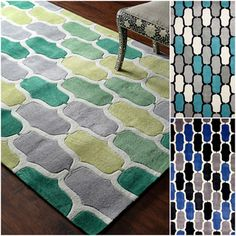 nuLOOM Hand-tufted Green Rug (5' x 8') | Overstock.com Shopping - Great Deals on Nuloom 5x8 - 6x9 Rugs
