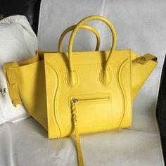 e167bd02127 Céline Cabas Phantom Yellow Leather Tote - Tradesy   Céline sPhantomLuggageTote Yellow Leather