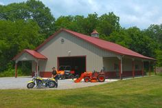 Morton Buildings hobby garage in Indiana.