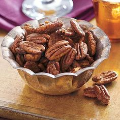 Superbowl Snacks: Sweet and Spicy Roasted Pecans