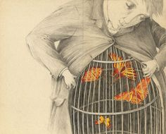 I always say I have a bunch of butterflies living in my belly  ...    Joana Concejo`s illustrations is just what I feel...