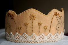 Birthday Crown - Waldorf - Felt Crown - Custom Crown - Embroidered Crown - Easter Crown - Flower Crown. $36.00, via Etsy.