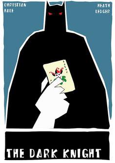 The Dark Knight - movie poster - Saul Bass style