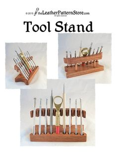 Tool Stand pattern wooden stand for by leatherpatternstore on Etsy