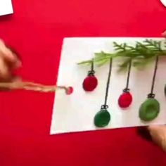 Christmas Crafts To Make, Christmas Ornament Crafts, Crafts For Kids To Make, Homemade Christmas, Halloween Crafts, Christmas Fun, Holiday Crafts, Christmas Cards, Christmas Decorations