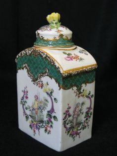 Boite à thé en porcelaine de Meissen XVIIIe