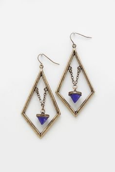 Reagan Earrings in Sodalite
