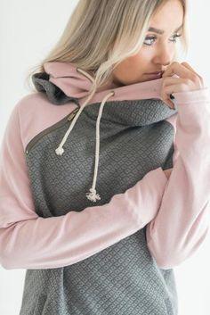 DoubleHood™ Sweatshirt - Quilted Charcoal