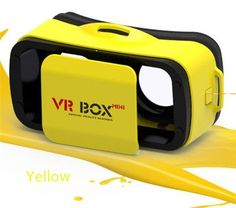 VRBOX Mini Virtual Reality Headset 3D Video Movie Game Glasses For IOS Android Smartphones Yellow >>> Read more reviews of the product by visiting the link on the image.Note:It is affiliate link to Amazon.