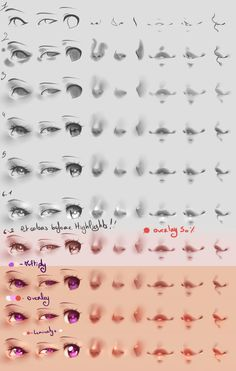 How I paint - Eyes/Nose/mouth - Grayscale to color by rika-dono.deviantart.com on @DeviantArt