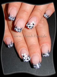 Love the plaid pattern, but I'd do it on the whole nail rather than just the tips.