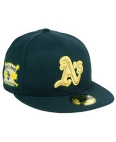 New Era Oakland Athletics Exclusive Gold Patch 59FIFTY Cap - Green 7 1/4