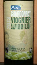 Bio+ Chardonnay Viognier Sauvignon Blanc 2013, IGP Pays D'Oc, Frankrijk -