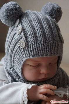 Cap helmet with knitting needles, who is with me? - Knit knit , Cap helmet with knitting needles, who is with me? Knitting Blogs, Baby Hats Knitting, Knitting For Kids, Baby Knitting Patterns, Baby Patterns, Knitting Projects, Knitted Hats, Knitted Balaclava, Crochet Beanie