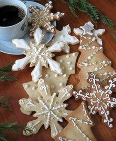 pretty Xmas cookies