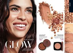 Online Brochure by Avon. Explore Avon's site full of your favorite products, including cosmetics, skin care, jewelry and fragrances. Mark Makeup, Bronzing Pearls, Avon Mark, Avon True, Natural Glow, Natural Tan, Brow Powder, Collor, Color Powder
