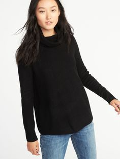 $36.99 - Classic Brushed-Knit Turtleneck Sweater for Women