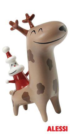 AMGI12 Christmas Cow Boy - figurine, LPWK and Massimo Giacon, 2007 #alessi #design #alessichristmas