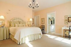 I'm really liking the peach colored walls!