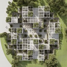 Discover recipes, home ideas, style inspiration and other ideas to try. Module Architecture, Social Housing Architecture, Urban Architecture, Concept Architecture, Sustainable Architecture, Residential Architecture, Contemporary Architecture, Master Arquitectura, Parque Linear