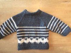 Strikkekits til bluse med de fede får str. 24 mdr - Amager Strik - Lilly is Love Kids Knitting Patterns, Knitting For Kids, Hand Knitting, Knit Baby Sweaters, Toddler Sweater, Baby Pullover Muster, Baby Cardigan, Baby Wearing, Knit Crochet