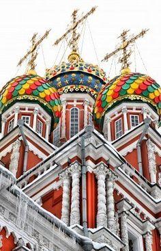 Onion Dome Orthodox Church in Russia