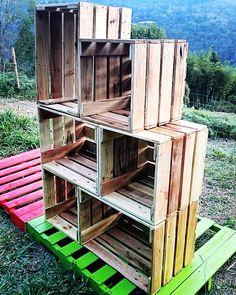 mueble hecho con madera de palet reciclada modular para que organices