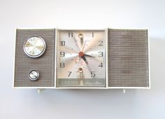 Vintage Zenith Radio, Restored with New Tubes and Connections, Working Retro AM Clock Radio,. $128.00, via Etsy.