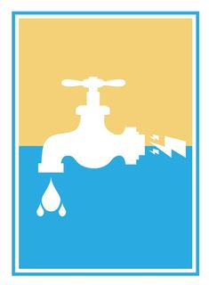 Saving water saves energy! Discover 100 ways to save water: (http://wateruseitwisely.com/100-ways-to-conserve/) Based on a WPA poster by Lester Beall.