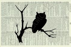 tree silhouette with owls - Google Search