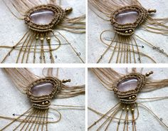 free macrame tutorial and patterns Amazing site! full of gorgeous tutorials for VERY BEGINNERS to ADVANCED! Incredible!