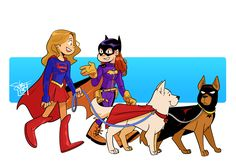 "comickergirl: "" Babs won the impromptu poll, so she's on dog walking duty this time. Dc Superhero Girl, Superhero Design, Supergirl Comic, Supergirl And Flash, Marvel E Dc, Marvel Girls, Alter Ego, Avatar, Super Heroine"
