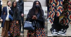 PICS: Naomi Campbell Rocks African Print For Street Style After Exciting Guests At The Fendi Show African Dresses Men, African Wear, African Fashion, Fashion Shoot, Fashion News, Fashion Models, African Print Skirt, African Models, Two Piece Swimwear