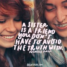 Bad Sister, Sister Friends, Soul Sister Quotes, Sister Definition, Love You Sis, Teenager Posts Crushes, Little Sis, Beautiful Disaster, Love Never Fails