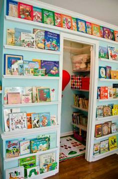 READING SPACE: An area for homework can include a reading nook for children, too: Put beanbags on the floor for seating, then mount floating...