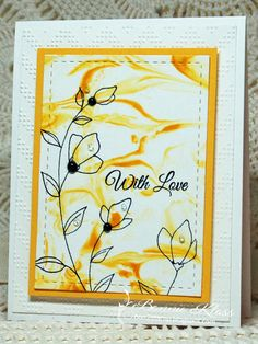Last Marbled Card...for now | Stamping with Klass | Bloglovin'
