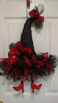 Witches Hat Wreath Halloween Wreath Witches Hat Decor | Etsy