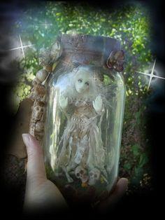 OOAK Captured Ghost Fairy sculpted in Prosculpt