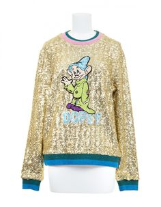 Designer Mary Katrantzou created an exclusive Snow White collection for Colette that features the iconic seven dwarfs in colorful sequined silhouettes! Snow White Seven Dwarfs, Mary Katrantzou, Disney Style, Fashion News, Graphic Sweatshirt, Brand New, Fashion Design, Style Fashion, Sweatshirts