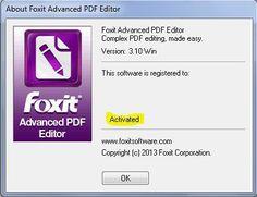 Foxit Advanced PDF Editor v 3.10 cracksfiles