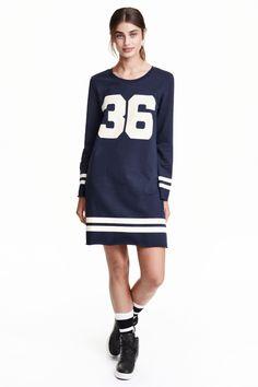 Vestido en tejido sudadera   H&M
