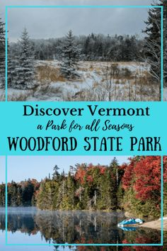 Explore Vermont in all four seasons at Woodford State Park. It's especially nice during fall foliage season, but Vermont State Parks never disappoint. Best Places To Vacation, Family Vacation Destinations, Travel Destinations, Vacation Ideas, Family Vacations, Le Vermont, New England Travel, Us Road Trip, National Parks Usa
