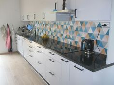 I love these modern tiles