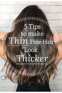 I finally found an amazing hair stylist in Orange County and wanted her to share her top 5 tips for making thin fine hair look thicker and fuller! for thin hair to look fuller Long Fine Hair, Haircuts For Thin Fine Hair, Short Thin Hair, Fine Hair Tips, Medium Fine Hair, Fine Thin Hair Cuts, Updos For Thin Hair, Bobs For Fine Hair, Fine Hair Updo