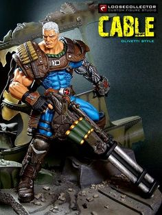 Cable : Olivetti Style (Marvel Legends) Custom Action Figure