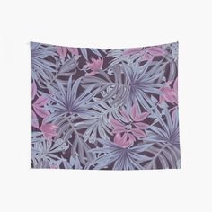 Pink and Purple Pastel Cannabis Decorative Print Wall Tapestry Tapestry Wall Hanging, Wall Hangings, Cool Walls, Window Coverings, Tapestries, Wall Prints, Cannabis, Pink Purple, Palm