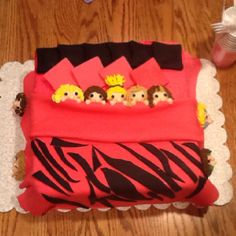 Daughter's 9th Birthday cake. It was a hit. Each girl at the sleepover was represented.