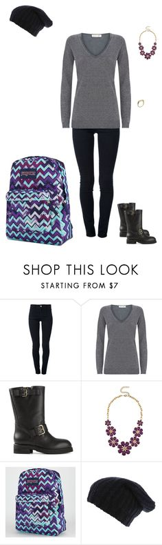 """""""Day 63 @ College"""" by maddieshu ❤ liked on Polyvore featuring STELLA McCARTNEY, Damsel in a Dress, Marni, JanSport and Tiffany Kunz"""